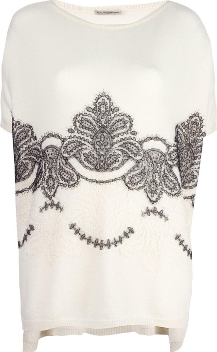 Ermanno Scervino baroque lace detail jumper