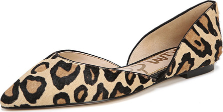 Sam Edelman Rodney Pointed-Toe Leopard Flats