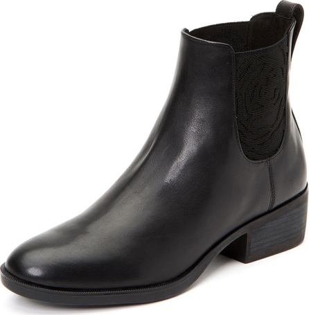 Taryn Rose Gina Low-Heel Leather Ankle Boots