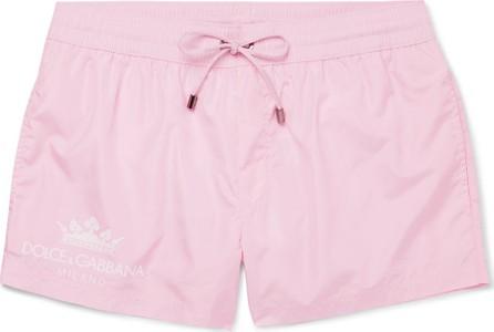 Dolce & Gabbana Logo-Print Short-Length Swim Shorts