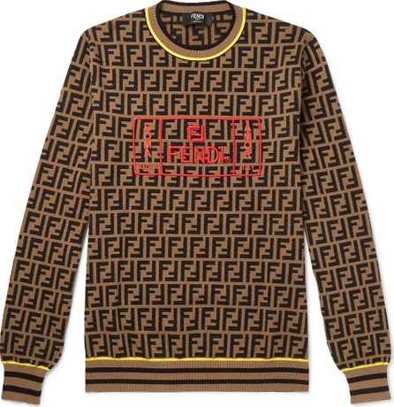 Fendi Logo-Intarsia Knitted Sweater
