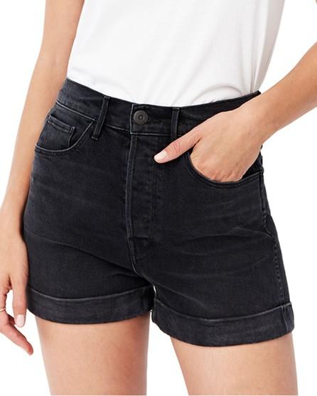 3X1 Eden Stone-Washed Denim Shorts
