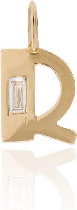 Lizzie Mandler Fine Jewelry 18kt yellow gold R initial diamond charm