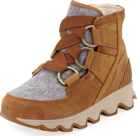 Sorel Kinetic Short Waterproof Suede/Felt Hiker Boots
