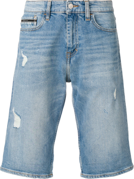 Calvin Klein Jeans Distressed knee-length denim shorts