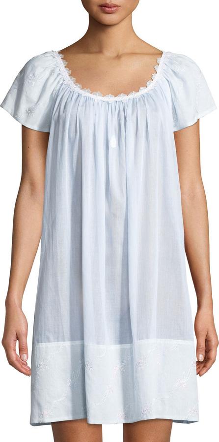 Celestine Fleur Lace-Trim Short-Sleeve Chemise