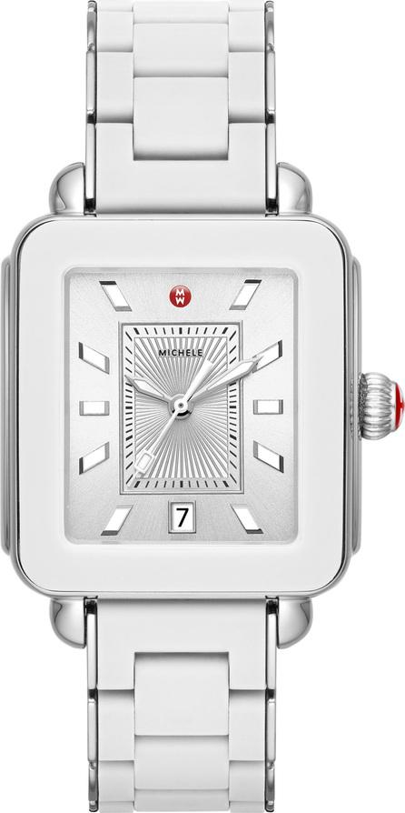 MICHELE Deco Sport Bracelet Watch, 34mm x 36mm