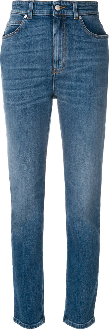 Alexander McQueen High waisted cropped jeans