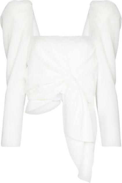 Johanna Ortiz Snowy puff-sleeve blouse
