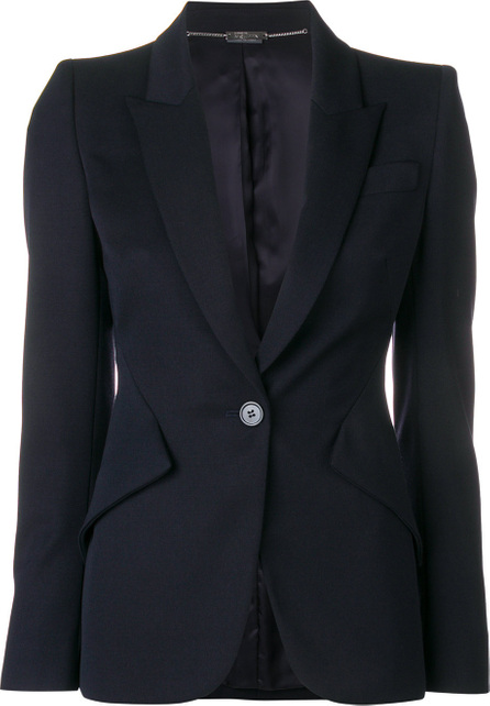 Alexander McQueen Leaf Crepe blazer