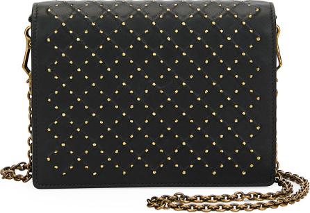 Bottega Veneta Cantena Stud Embellished Montebello Crossbody Wallet Bag