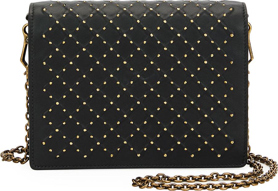 Bottega Veneta - Cantena Stud Embellished Montebello Crossbody Wallet Bag