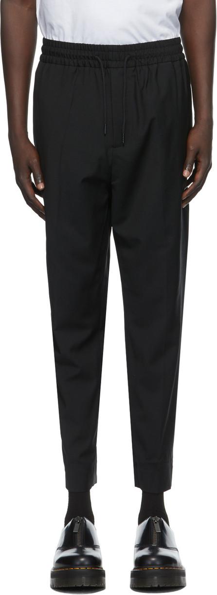 Etudes Black Wool Jalousie Trousers
