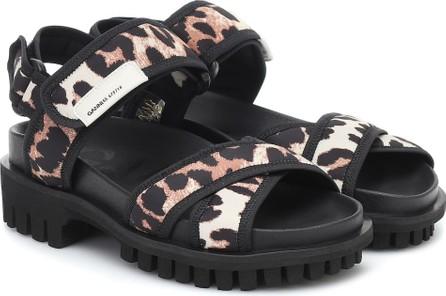 Ganni Leopard-print trekking sandals