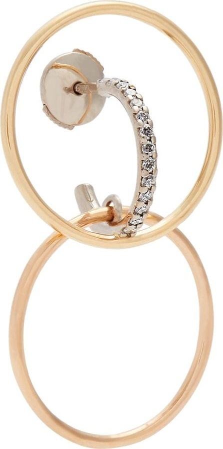 Charlotte Chesnais Bloom diamond & gold single earring