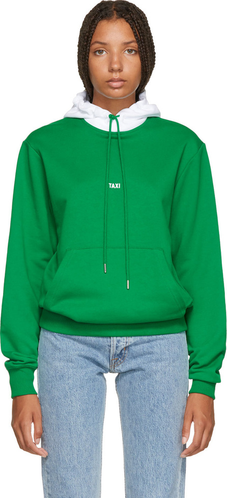 Helmut Lang Green & White Tokyo Edition Taxi Hoodie