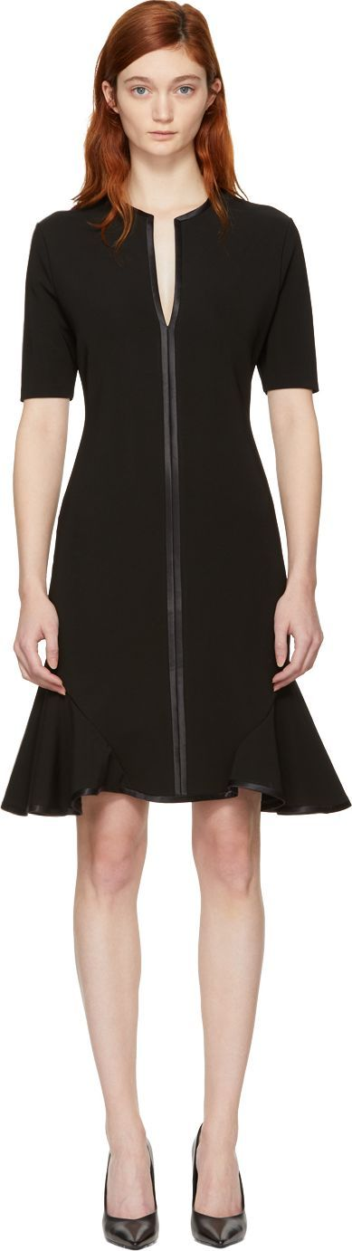 Givenchy Black V-Neck Flare Dress