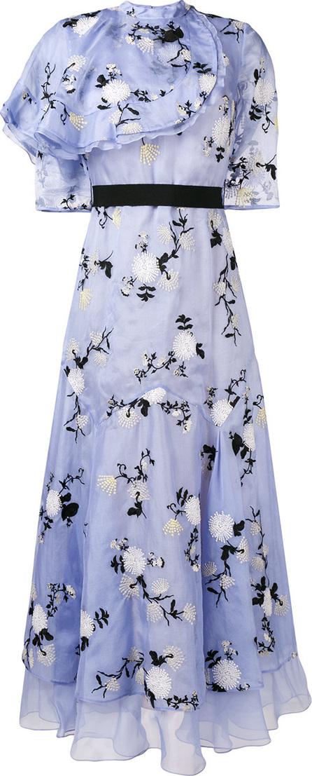 Erdem Hael ruffle floral long dress