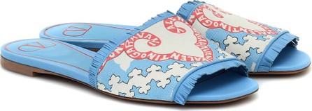 Valentino Exclusive to Mytheresa – Valentino Garavani canvas and leather sandals