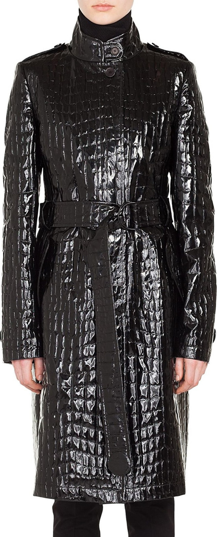 Akris Punto Croc Embossed Faux Patent Leather Jacket