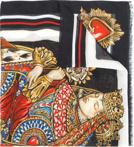 Dolce & Gabbana Printed styled scarf