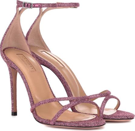 Aquazzura Purist 105 glitter sandals
