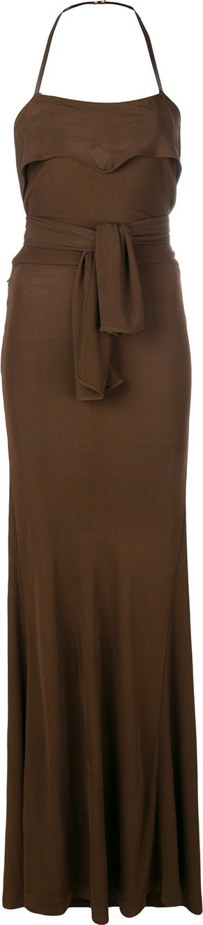 Alberta Ferretti Belted fitted gown