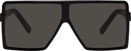 Saint Laurent Black Small Betty Shield Sunglasses