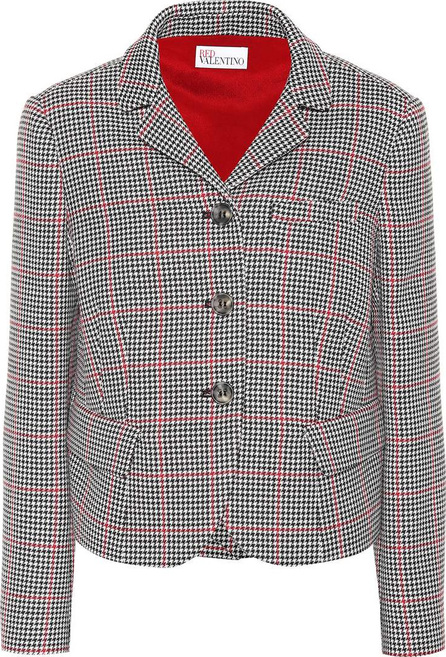 RED Valentino Check cotton and wool jacket