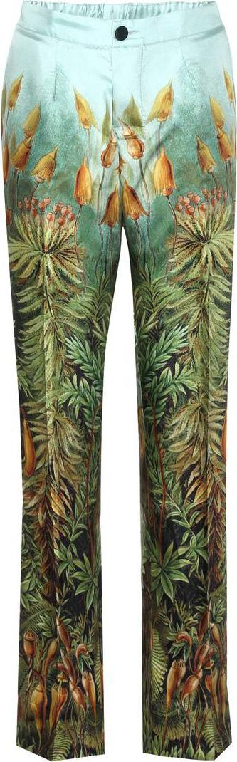 For Restless Sleepers Printed silk trousers