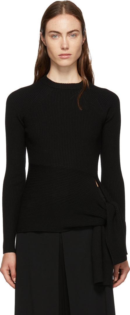 3.1 Phillip Lim Black Waist-Tie Sweater
