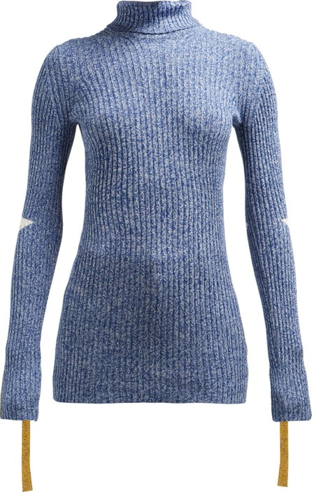 2 Moncler 1952 Roll-neck cotton-blend sweater