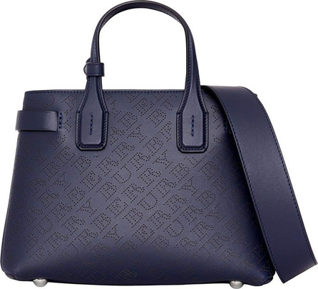 Burberry London England Banner Small Perforated Tote Bag, Regency Blue