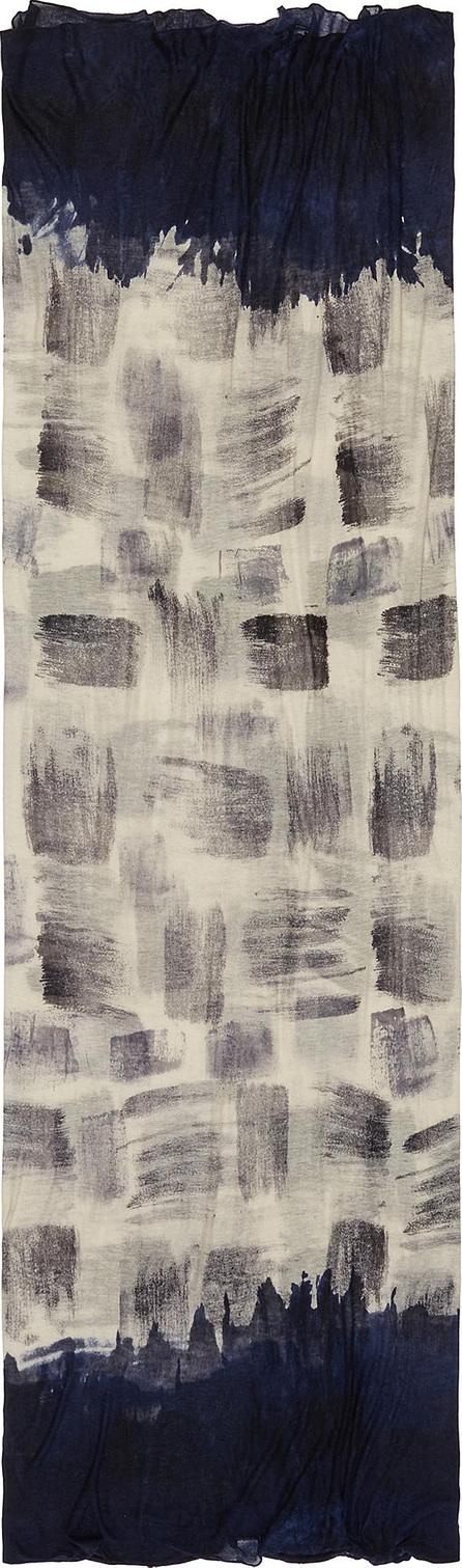 Faliero Sarti 'Streep' brush stroke print cashmere-silk scarf