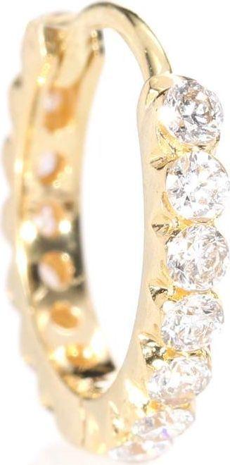 Maria Tash Invisible Set Diamond Eternity 18kt yellow gold earring