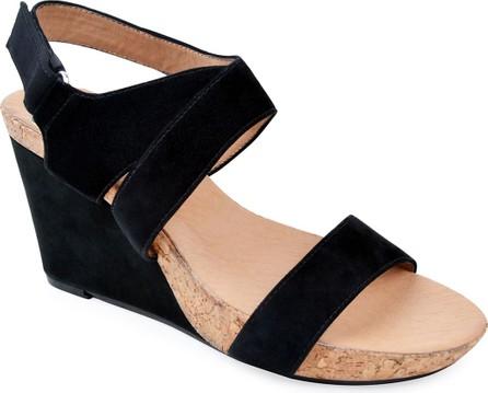 Bettye Muller Trent Suede Wedge Sandals
