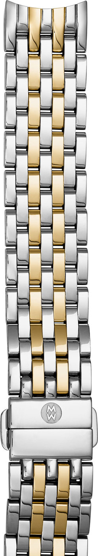 MICHELE Two-Tone 18mm Seven-Link Bracelet Strap