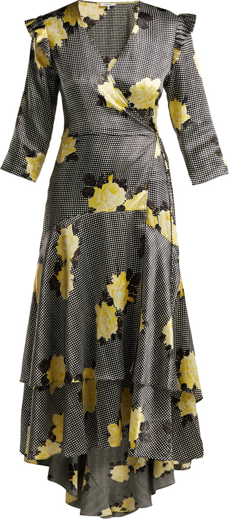 Ganni Calla silk-blend wrap dress