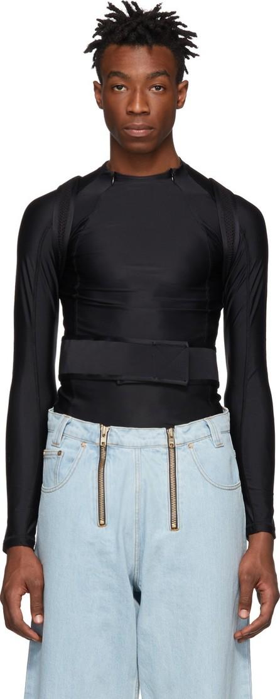 GmbH Black Recycled AHU Suspender Long Sleeve T-Shirt