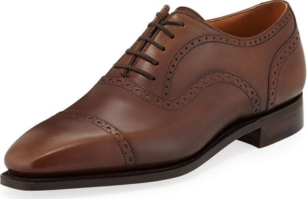 Corthay Men's Cap-Toe Dress Shoes with Brogue Details