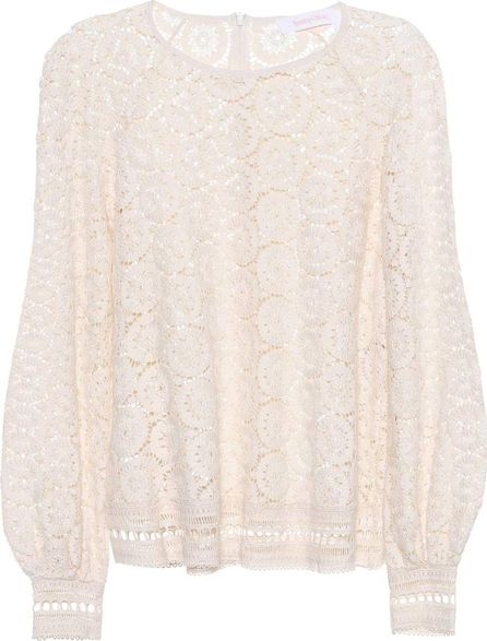 See By Chloé Embroidered lace cotton top