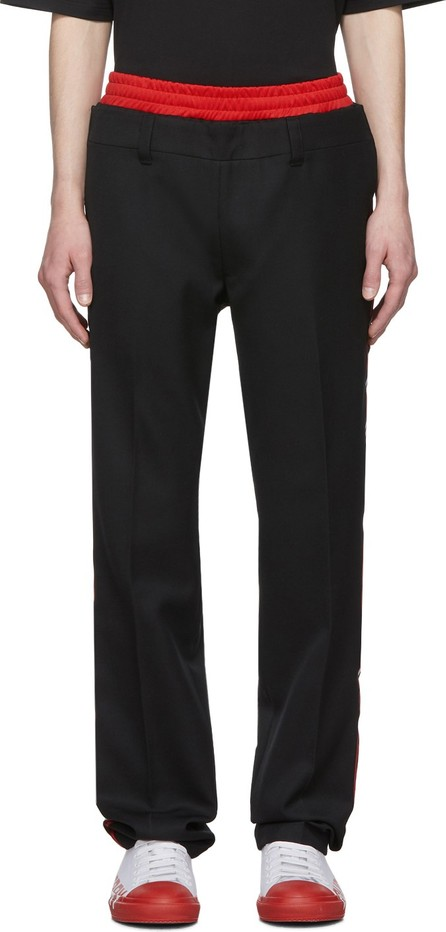 Burberry London England Black Wide Tailored Trousers
