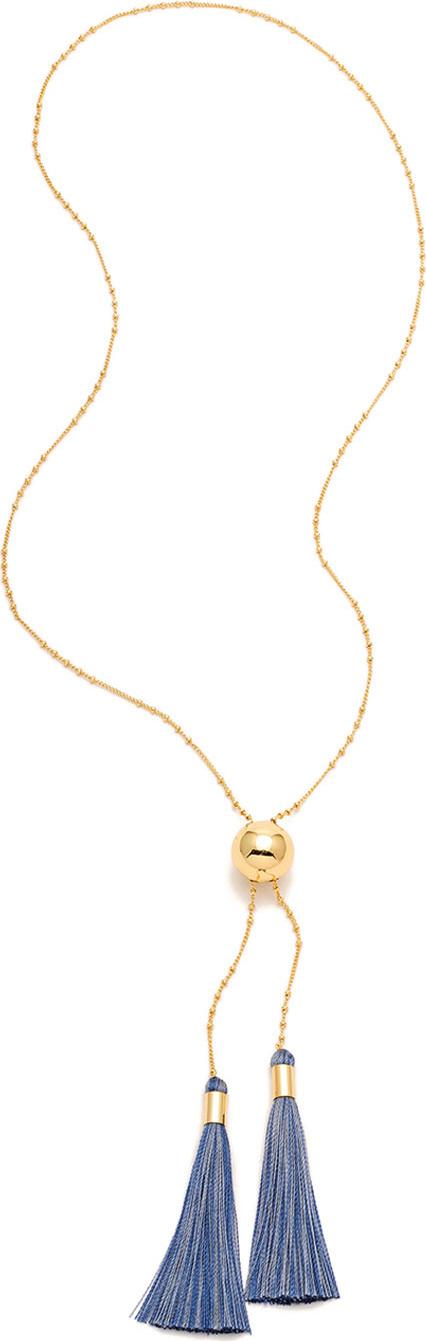 Gorjana Carmen Tassel Lariat Necklace
