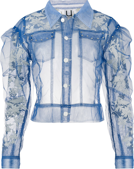 Aviu Sheer ruffle detail jacket