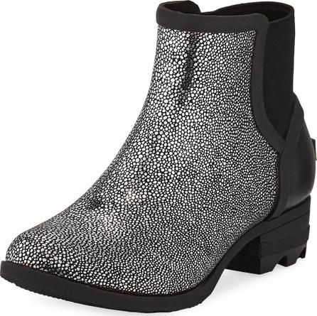 Sorel Janey Metallic Waterproof Rubber Chelsea Boots