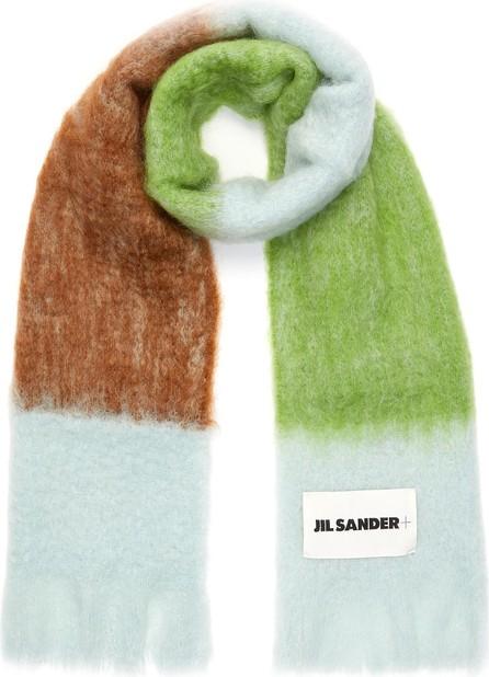 Jil Sander Colourblock mohair-wool scarf