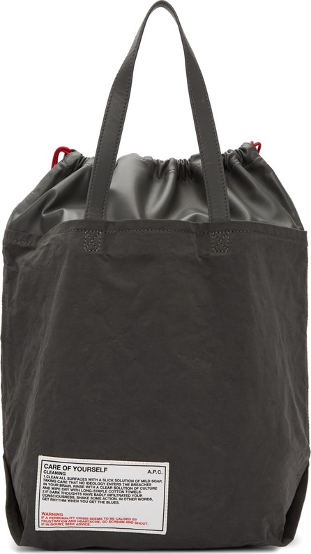 A.P.C. Grey 'Care Of Yourself' Tote