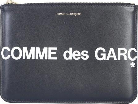 Comme Des Garcons Black Leather Signature Huge Holder/Mini Pouch
