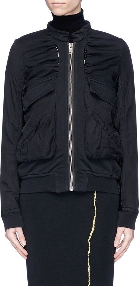 Haider Ackermann 'Perth' satin panel jersey bomber jacket
