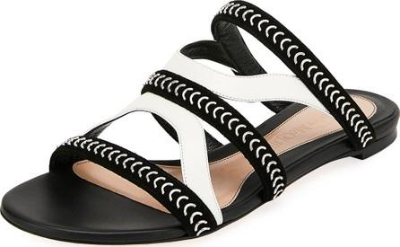 Alexander McQueen Flat Slide Sandals with Chain Detail